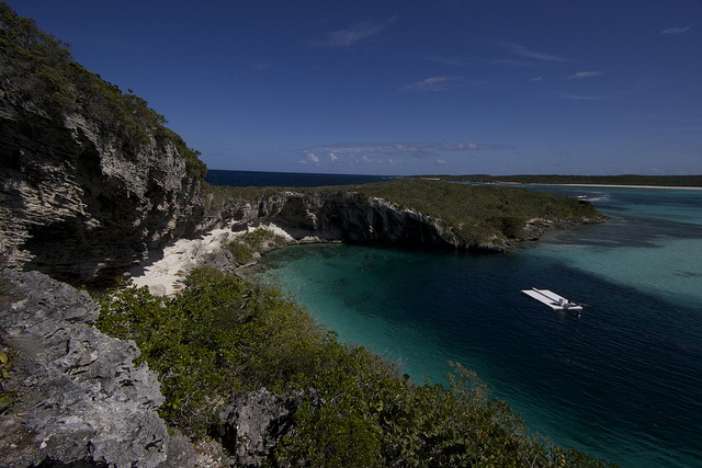 Dean's blue hole from and cliffs