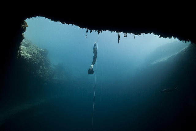 Dean's blue hole diving